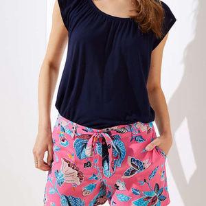 LOFT Shorts - NWT LOFT Bloom Tie Waist Fluid Shorts 10
